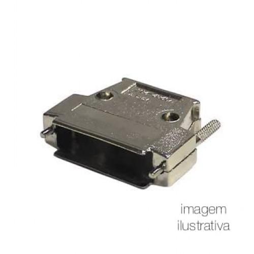 Capa Metálica Para Conector DB25 Com Kit Longo
