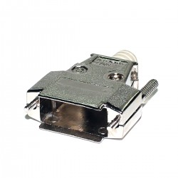 Capa Metalica Para Conector DB15 Com Kit Longo