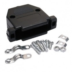Capa Para Conector DB37 Com Kit Curto Preto/Cinza
