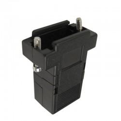 Capa Para Conector DB9 Preto Com Kit Curto