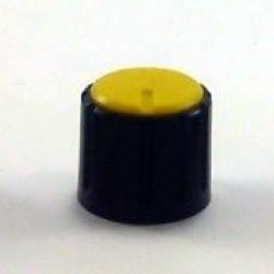Knob AD-198 Amarelo Sem Saia Indicadora Com Parafuso