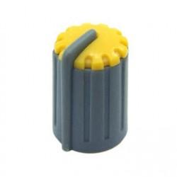 Knob Amarelo Para Eixo Estriado