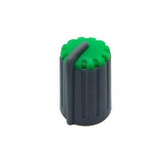 Knob Verde Para Eixo Estriado