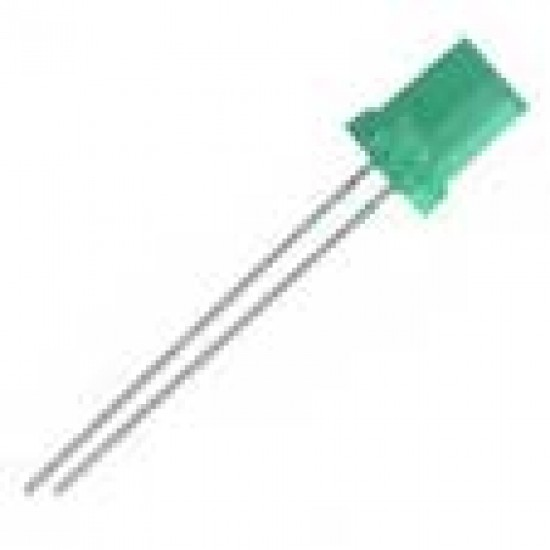 Led Retangular Verde Difuso 2x5x7mm
