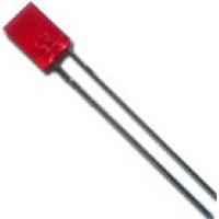 Led Retangular Vermelho Difuso 2x5x7mm