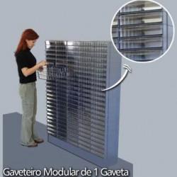 Base Modular Com Duas Gavetas - Vermelho - GVT1