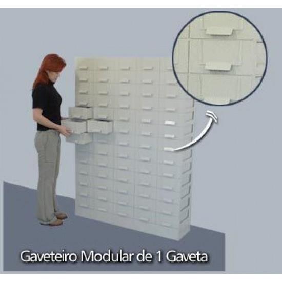 Base Modular Com Uma Gaveta - Cinza - GVT3