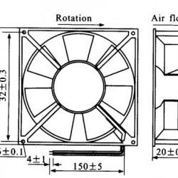 Micro Ventilador 40x40x20HS 12V Sem Rolamento