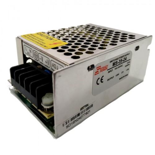 Mini Fonte Chaveada Industrial 35W 24V 1,5A (MS-35W 24VDC/MS-35-24)