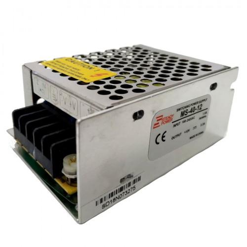 Mini Fonte Chaveada Industrial 40W 12V 3,4A (MS-40W 12VDC/MS-40-12)