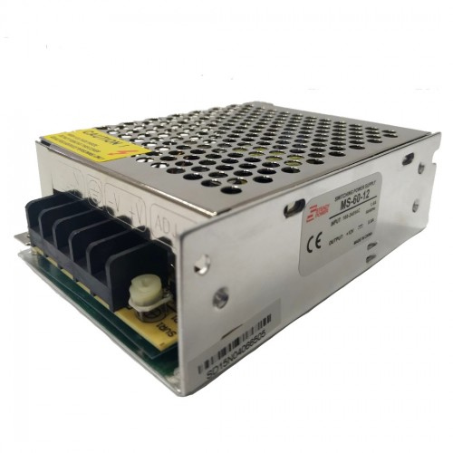 Mini Fonte Chaveada Industrial 60W 12V 5A (MS-60W  12VDC/MS-60-12)