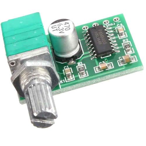 Módulo Amplificador de Som PAM8403 Estéreo 5V 2x3W Com Potenciômetro