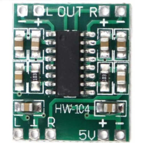 Módulo Amplificador de Som PAM8403 Estéreo 5V 2x3W Sem Potenciômetro