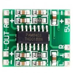 Módulo Amplificador de Som Stéreo 5V 2x3W PAM8403