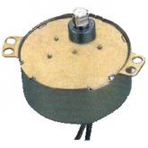 Motor De Microondas 49TYJ 120 VAC 3 RPM Eixo Ferro Curto Com Fio
