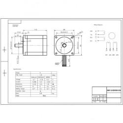 Motor De Passo Nema 34 - 90kgf.cm - 5,88A - 1,8 Grau - SM1.8-E8590-CS