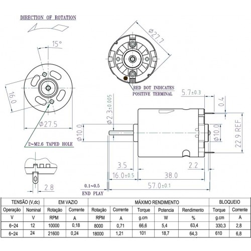 Motor DC - Ima Permanente PM101-SA20-NX