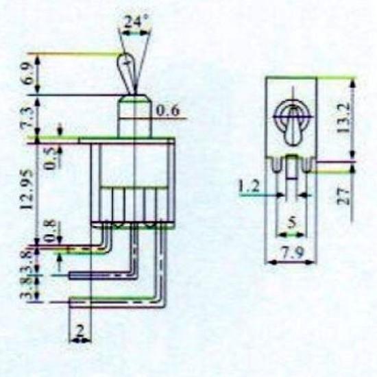 Chave Alavanca MTS102-C4 Para Placa