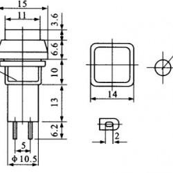 Chave PBS-12B Verde Sem Trava (Tipo Push Button)