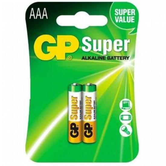 2 Pilhas Palito AAA 1,5V Alkalinas GP Modelo LR03