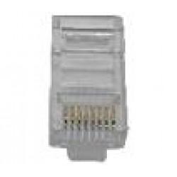 Plug Modular RJ45 8P8C (YH012) Cristal CAT5
