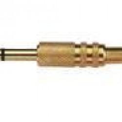 Plug P10 Estereo Dourado