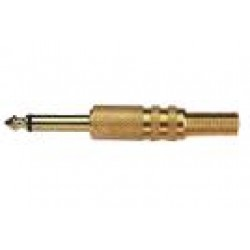 Plug P10 Mono Dourado