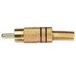 Plug RCA Dourado Preto