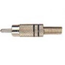 Plug RCA Metálico Preto
