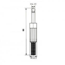 Plug P10 Mono Capa Plastica 6,35mm