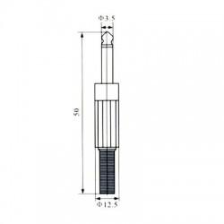 Plug P2 Mono Plástico 3,5mm