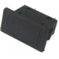 Porta Fusível BF-020 Retangular Para Painel Preto