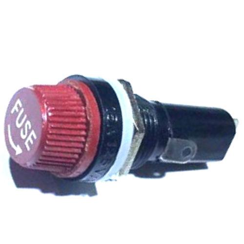 Porta Fusivel Pequeno 5x20mm Vermelho BLX-1 Para Painel