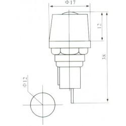 Porta Fusivel MF527 Com Fenda Para Painel 6x30mm 3AG