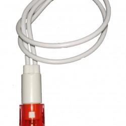 Sinalizador PL-108T Olho De Boi Vermelho 24V Com Fio