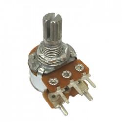 Potenciometro Linear Mini L15 Com Chave 1M  (5 Terminais)