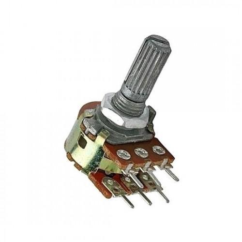 Potenciometro Linear Mini Duplo 100K L20 6T