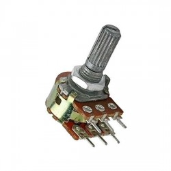 Potenciometro Logarítmo Mini Duplo 250KA L20
