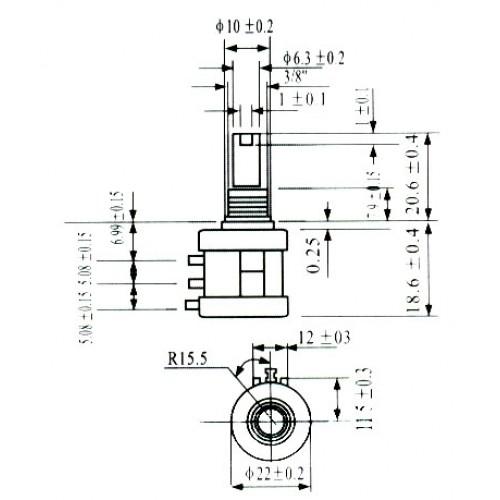 Potenciometro Multivoltas Modelo 3590S 50K 10 Voltas