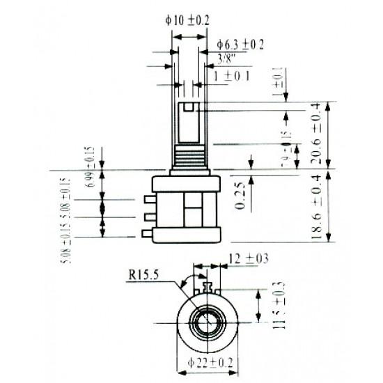 Potenciometro Multivoltas Modelo 3590S 5K 10 Voltas