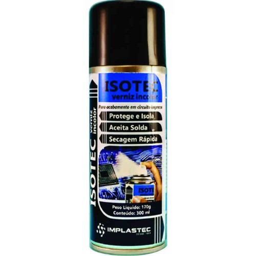 Isotec - Verniz Incolor Implastec 170g/300ml