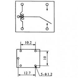 Relê T74 24V 1 Pólo 2 Posições 5 Terminais 125V 20A