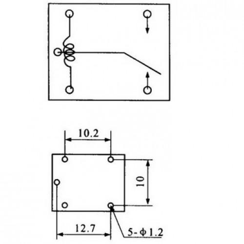Rele T74 12V 1 Polo 2 Posicoes 5 Terminais 125V 20A