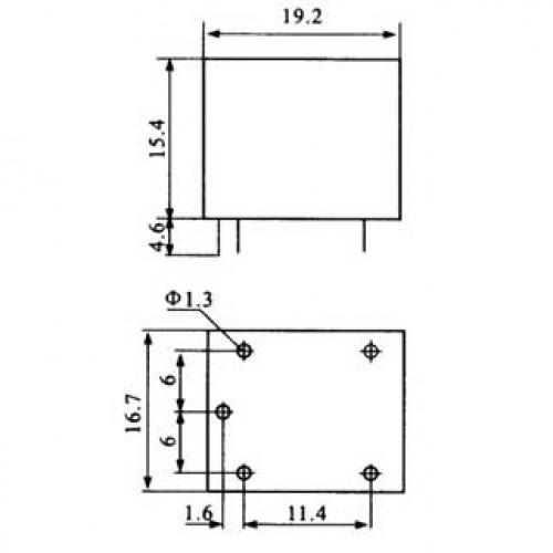 Relê T73 5V 1 Pólo 2  Posições 5 Terminais 125V 10A