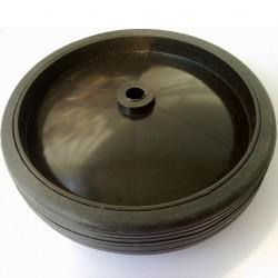 Roda De Plastico Preto Com Borracha Sem Rolamento 136mm X 40mm