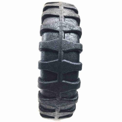 Roda De Plástico 5 Polegadas Sem Rolamento Azul Eixo 5/16