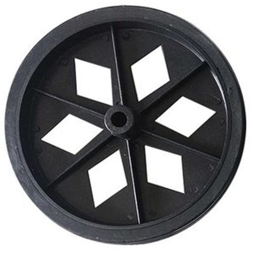 Roda De Plastico Preta Sem Rolamento 152mm X 27mm