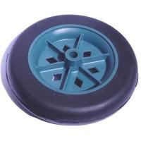 Roda De Plástico 6 Polegadas Sem Rolamento Azul Pneu de Borracha Furo do Eixo 5/16 de Polegada 150mm X 40mm