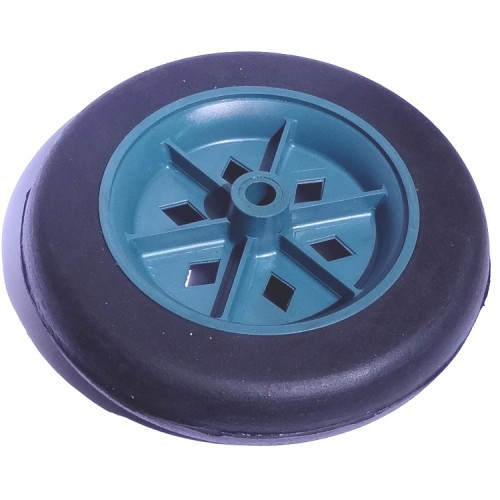 Roda De Plástico 5 Polegadas Sem Rolamento Azul Pneu de PVC Furo do Eixo 5/16 Polegadas 135mm X 35mm