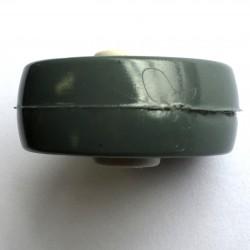 Roda De Plastico Branca 2 Polegadas Sem Rolamento 52mm X 27mm